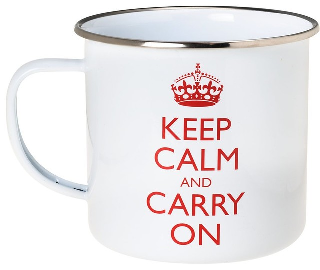 Keep Calm and Carry On Cup eclectic-everyday-glasses