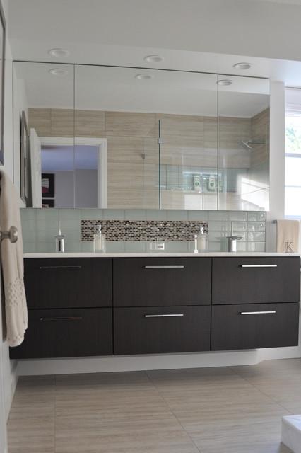 New England Bathroom Contemporary Tile Other Metro