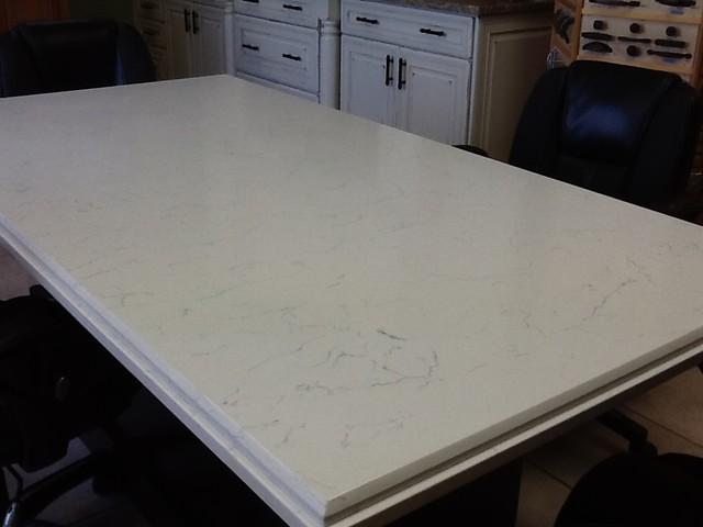 Pompeii Quartz White Lightning - Kitchen Countertops - other metro - by UMI (United Materials, Inc.)