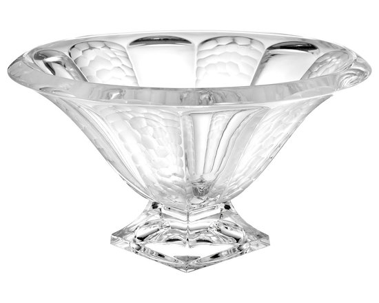 """Godinger Silver - Champagne Bowl Centerpiece 11"""" - High quality crystal adorned with gentle undulating cuts gives this champagne bowl a spectacular look. Whether you use it as a table centerpiece, or give it as a wedding gift, this crystal bowl will surprise everyone who sees it."""