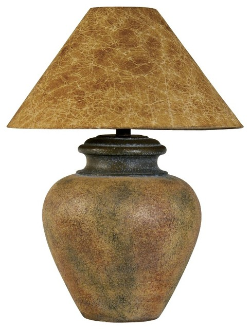 Country - Cottage Handcrafted Southwest Terra Cotta Table Lamp rustic-table-lamps