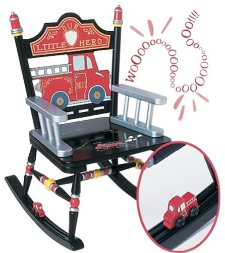 Levels of Discovery Firefighter Rocking Chair with Sound eclectic-kids ...