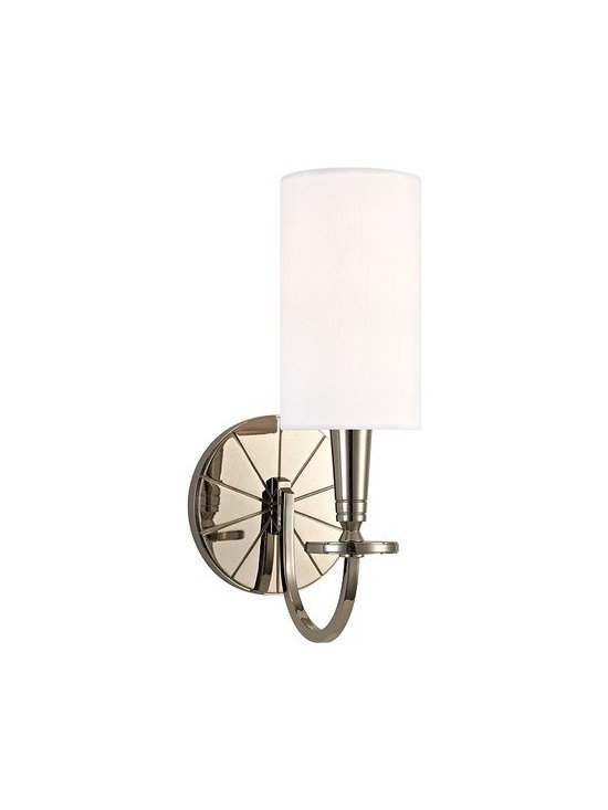 Hudson Valley Lighting - Hudson Valley Lighting | Mason Wall Sconce - Though the Mason Wall Sconce's inspiration is rooted in history, this collection forges new territory at the crossroads of tradition and modernity. While the wheel spoke motif evokes America's frontier past, the geometric purity of the chandelier's plumb bob column and conical socket holders suggests kinship with mid-century modern design. Double Clip Shade Attachment.