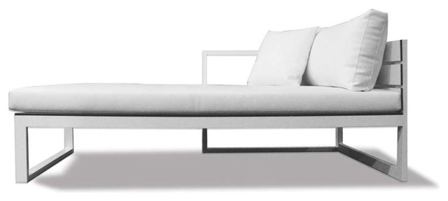 Piano Sectional Chaise, Left Arm modern-outdoor-chaise-lounges