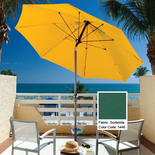 Green-Aluminum-Market-Umbrella-Sunbrella patio-furniture-and-outdoor-furniture
