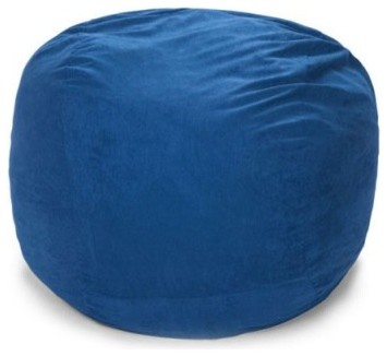 Relax Sack Small Round Microsuede Foam Bean Bag - modern - kids ...