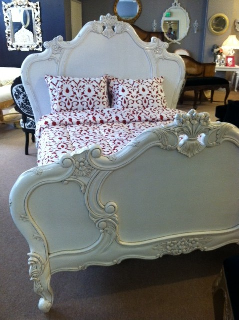 Fifi White French Carved Bed