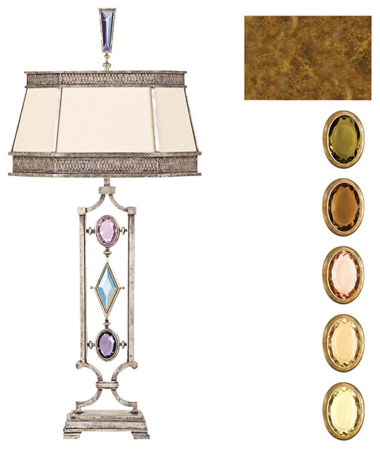 Encased Multi-colored Gems Table Lamp, 730310-1ST traditional-table-lamps