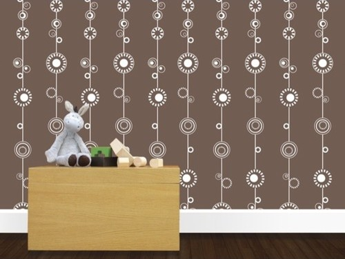 George Wallpaper in Milk Chocolate modern nursery decor
