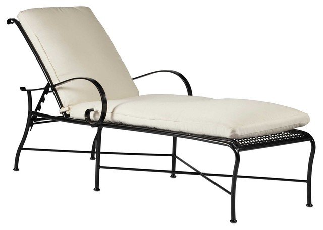Verano Wrought Iron Chaise Lounge outdoor-chaise-lounges