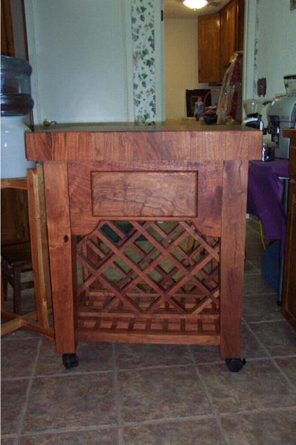 Mesquite Island Cart Wine Rack Kitchen Islands And