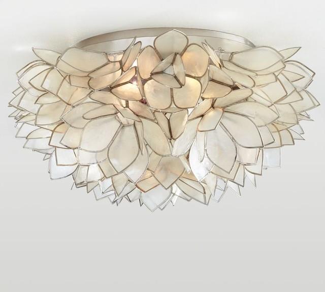 Capiz Flush Mount contemporary-ceiling-lighting