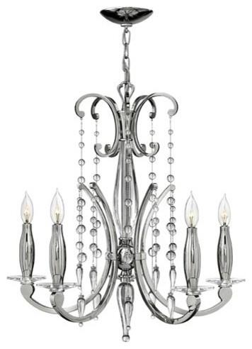 Alexandra Polished Nickel Five-Light Chandelier modern-chandeliers