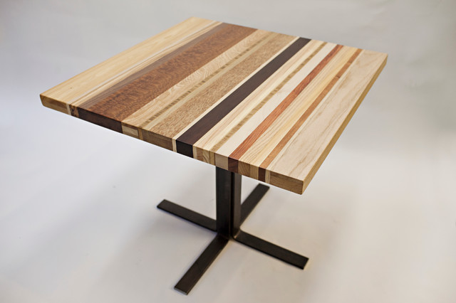 Striped table modern dining tables austin by chris for Chris wilhite design