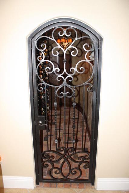Forge iron designs wine cellar doors - Interior decorative wrought iron gates ...
