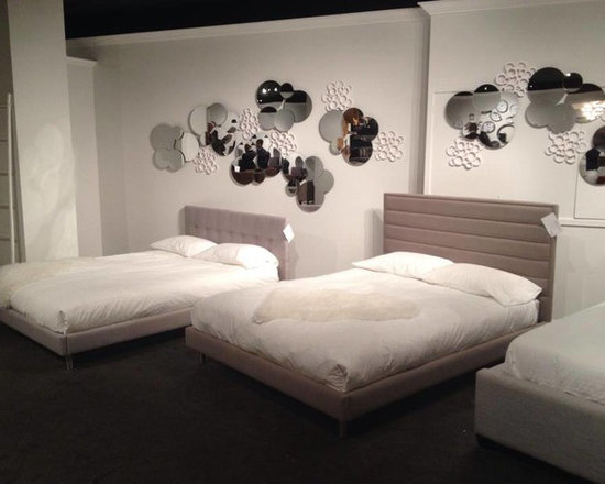 Toronto Showroom 2014 - Our sleek and modern Cubic & Skylar beds!