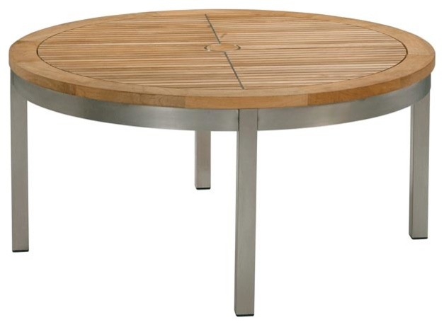 Barlow Tyrie - Equinox Conversational Table - Circular modern-outdoor-dining-tables