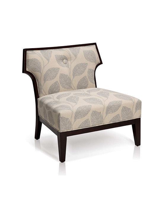 Sydney Leaf-Print Slipper Chair - For more information:
