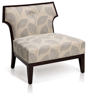 Sydney Leaf Print Slipper Chair Contemporary Armchairs And Accent Chairs