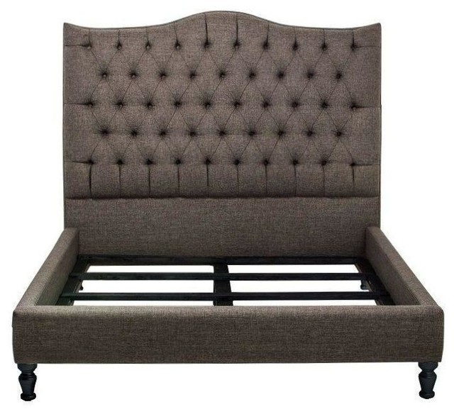 Nicole tufted bed frame contemporary bed frames by for Tufted headboard queen bed frame