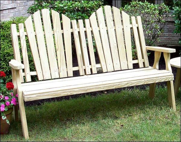 treated pine curveback garden bench contemporary patio