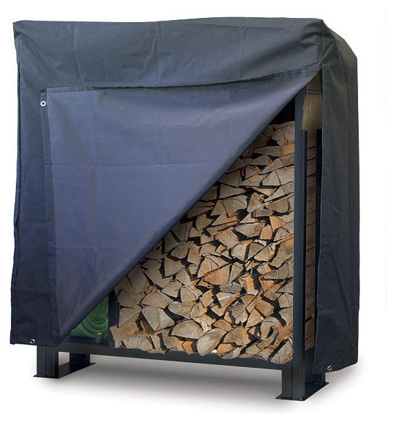 Utility Outdoor Wood Rack Cover Traditional Fireplace Accessories