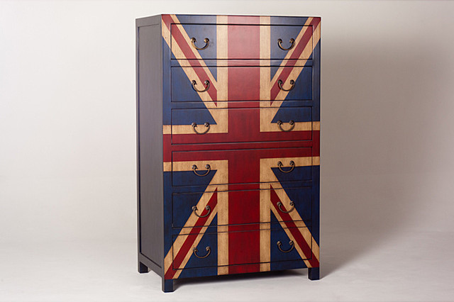 Union Jack Flag 6 Drawer Chest Eclectic By Overstock Com