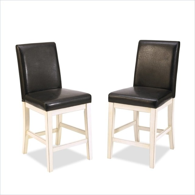 Home Styles Nantucket Bar Stool in Distressed White contemporary-bar-stools-and-counter-stools