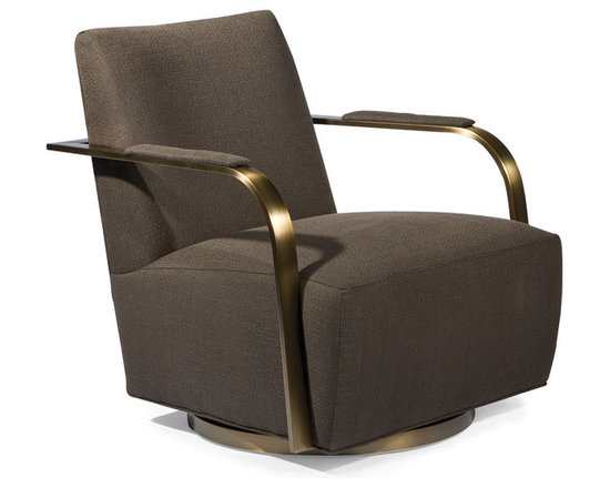 Thayer Coggin - Zac Swivel Chair in brushed bronze from Thayer Coggin - Thayer Coggin, Inc.