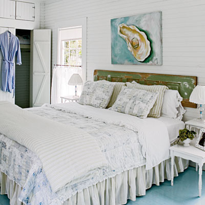 Beachy White Bedroom - 50 Comfy Cottage Rooms - Photos - CoastalLiving.com