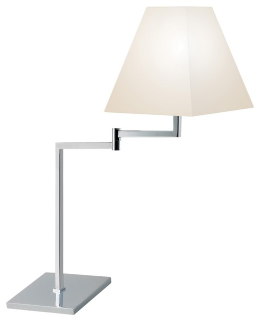 Sonneman Square Polished Chrome Swing Arm Desk Lamp contemporary-table-lamps