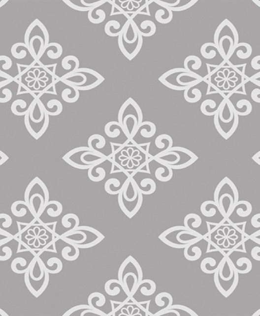 Carly Lattice Pattern Wallpaper Light Grey Offwhite Traditional