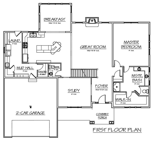 Spring valley spec home 2013 traditional floor plan for Spec home building