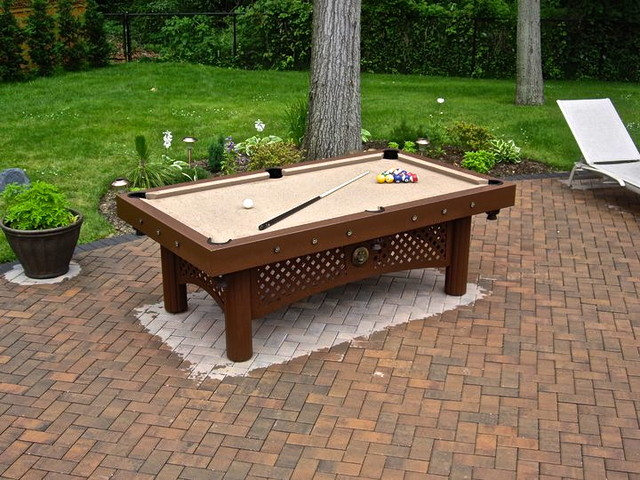 The Custom Tuscany Outdoor Pool Table Traditional Game Tables New York By Century Billiards