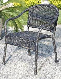 Harbor Bistro Chair - Golden Black modern-outdoor-lounge-chairs