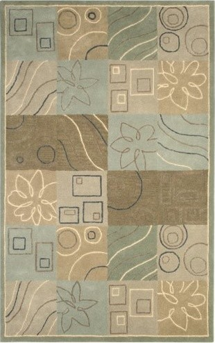Rizzy Rugs Volare VO-0806 Sketches Extra Dense Wool Area Rug - Blue contemporary-rugs