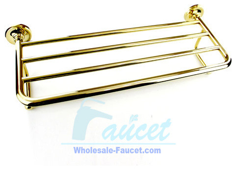 Luxury Polished Brass Towel Bar With Shelf contemporary-towel-bars-and-hooks
