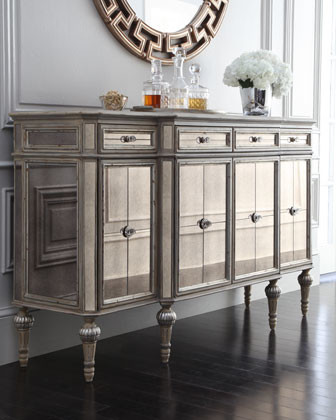 Dresden Four-Door Mirrored Console traditional-side-tables-and-accent-tables