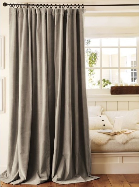 Velvet Drape traditional-curtains