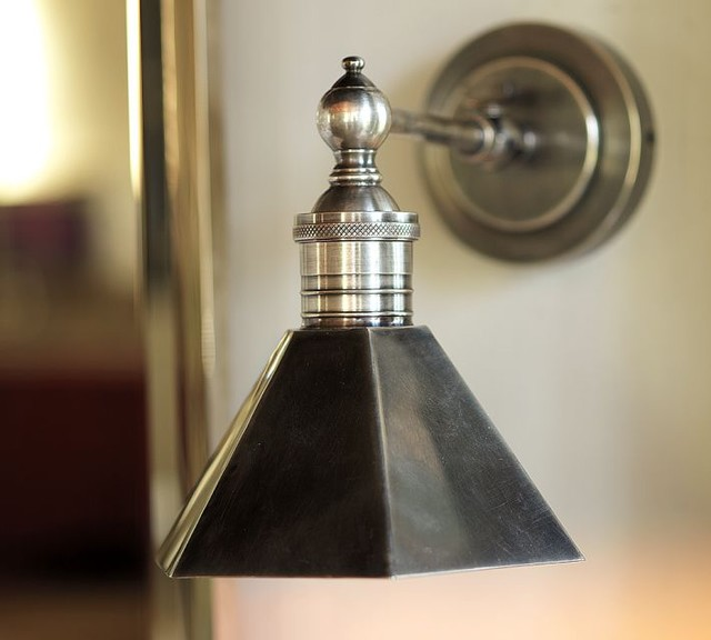 Barn Light Bathroom Vanity: Metal-Head Single Sconce