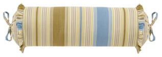 Striped Neckroll Pillow traditional-decorative-pillows