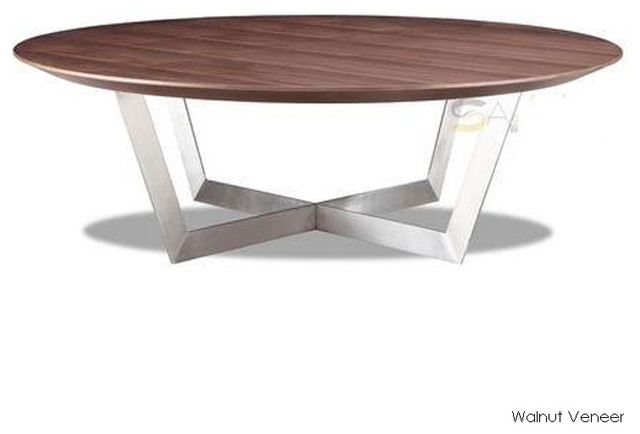 Dixon Coffee Table Walnut Veneer Modern Coffee Tables By Inmod