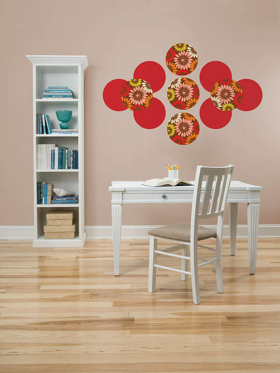 "Carnivale Red Hot Dots Set of Wall Decals - Festive yet chic! Carnivale will make you smile. This pack contains eight 13"" Carnivale Dots and eight 13"" Red Hot Dots to coordinate. WallPops are repositionable and always removable."