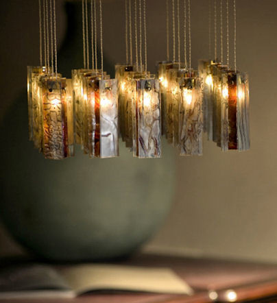 Winter Blossom eclectic pendant lighting