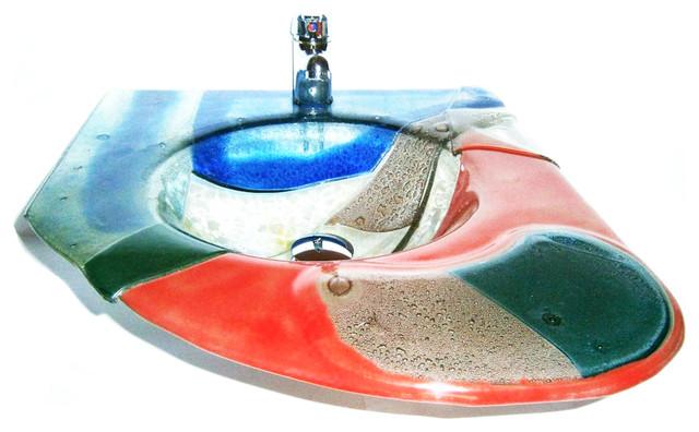 Trecolore_ Glass Unique Sink modern-bathroom-sinks