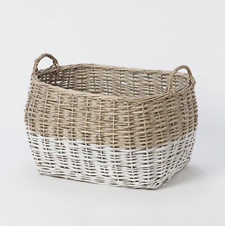 Colorblock Utility Basket, Large contemporary-baskets