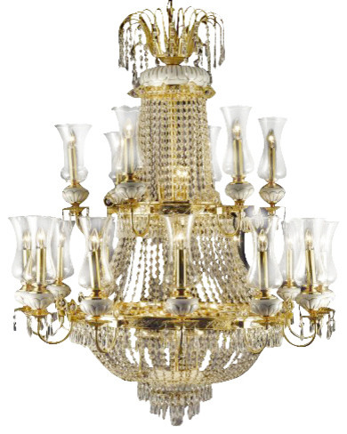 French Empire Crystal chandelier Lighting traditional-chandeliers