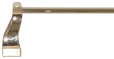 "Aqua Bath 24"" Single Towel Rod - Polished Nickel modern-towel-bars"