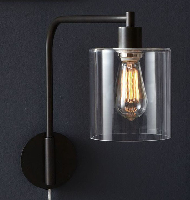 Wall Sconces With Clear Glass : LOFT Modern Metal Clear Glass Wall Sconce - Contemporary - Wall Sconces - new york - by PHOENIX ...