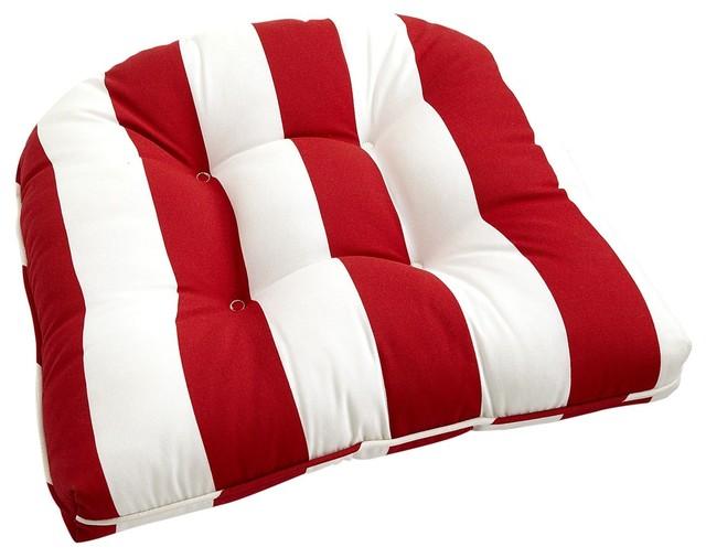 Cabana Stripe Cushion Tomato Traditional Seat